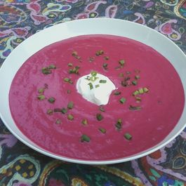 Chilled BBC Beet Borscht (Buttermilk, Balsamic & Carrot)