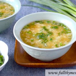 Green Egg Drop Soup
