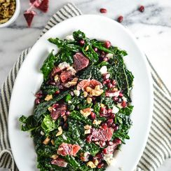 Massaged Kale Salad With Blood Orange And Pomegranate