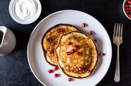 Yogurt Pancakes with Pomegranate