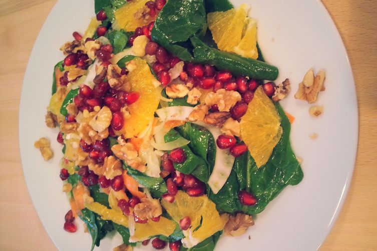 Spinach, fennel & orange salad
