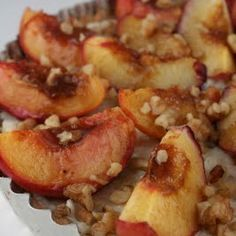 Roasted Peach, Rice Pudding, and Toasted Walnut Tart in Brown Butter Crust