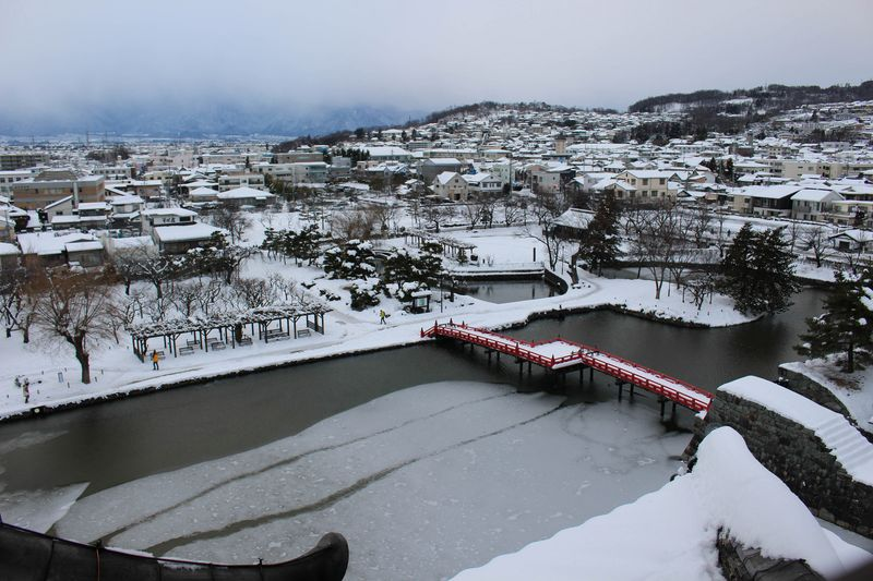 A sliver of Matsumoto, as seen from the central castle.