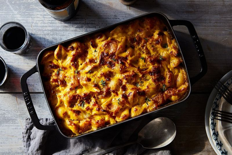Pumpkin, pancetta, and lots and lots of cheese. Perfection.
