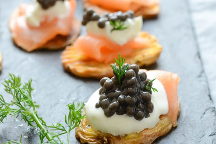 Elegant smoked salmon canap s recipe on food52 for Classy cuisine canape maker
