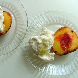 Roasted Peaches with Honey Meringue