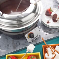 Chocolate Fondue with Orange Essence