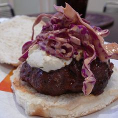 Burger With Spicy Slaw