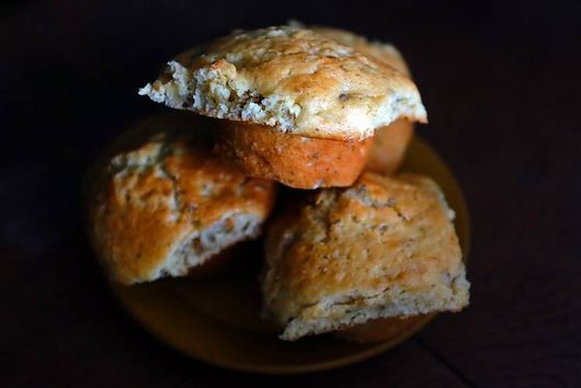 Pear, Ginger, Thyme Muffins