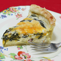 Spinach and Bacon Quiche
