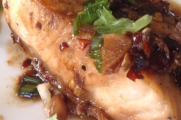 ROASTED SALMON WITH CHILE AND SICHUAN  PEPPERCORNS
