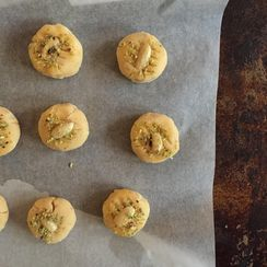 Pakistani rosewater and cardamom 'Nankhatai' cookies