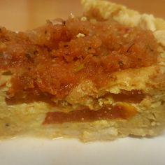 Lisa B.'s Tomato & Cheddar Cheese Pieche (Pie & Quiche in one!)