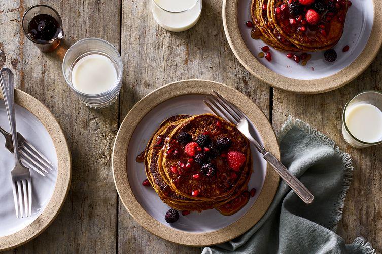 Gluten-Free Pumpkin-Oat Pancakes