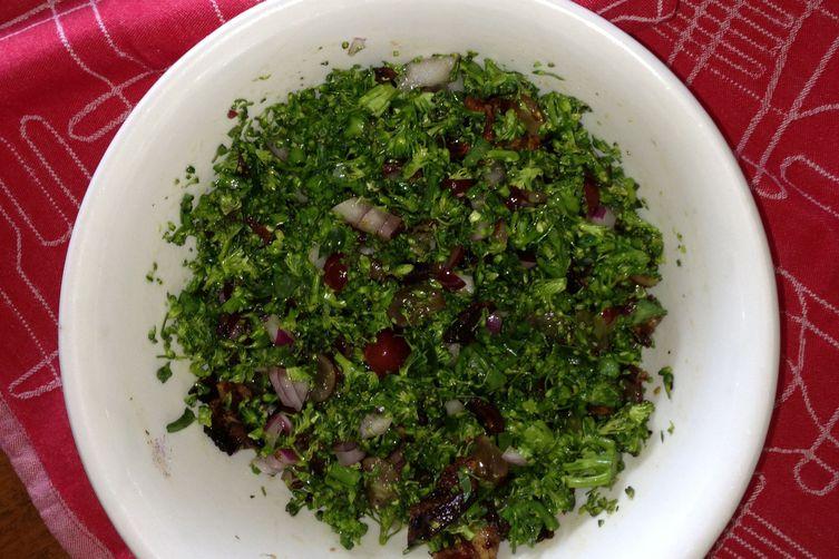 Flame 'N Shaved Broccoli Salad
