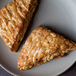 Walnut Sage Scones with Brown Butter Maple Glaze