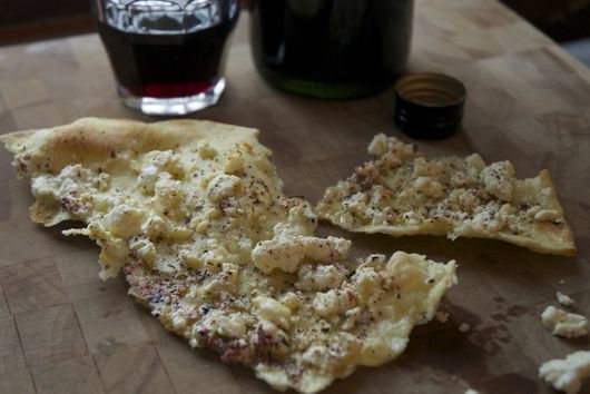 Sardinian Flatbread with Feta and Za' Atar