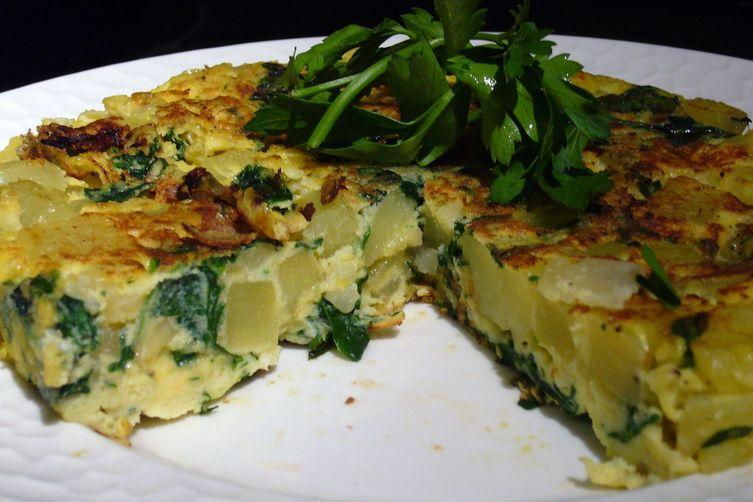 Spinach and Potato Tortilla