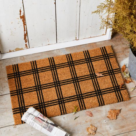 Plaid Coir Doormat