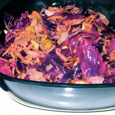Moroccan spiced warm red cabbage salad