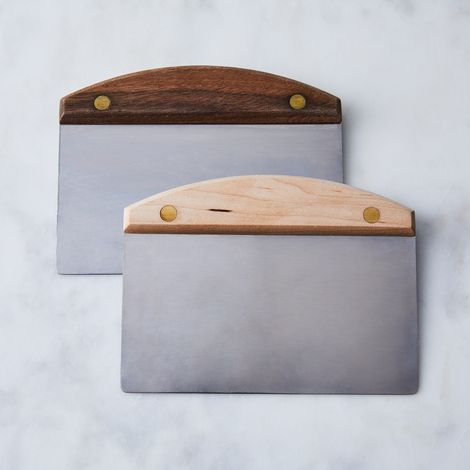 Dough Scraper with Wood & Brass Handle