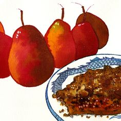 Caramelized Pear Pie with Streusel Topping by NTR