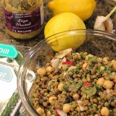 Chickpea & Lentil Salad with Sumac