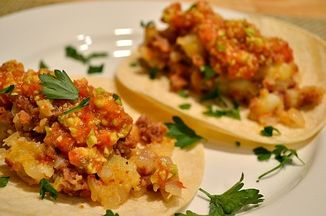 45086202 a836 42c7 9a7a 362fdb2367fc  potato chorizo tacos