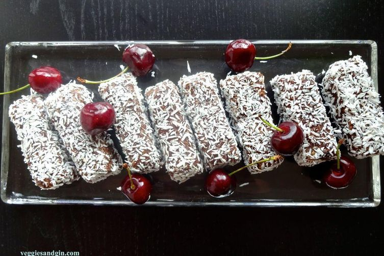 Chocolate, Cherry & Coconut Breakfast Bars