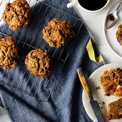 Chocolate Banana Streusel Muffins