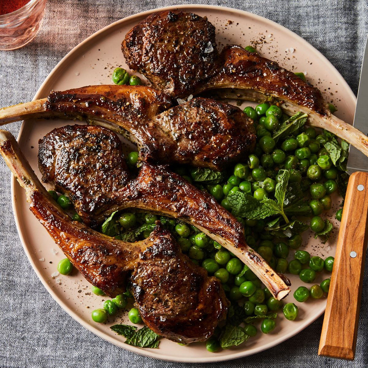 lamb chop easy marinade Pan-Fried Lamb Chops With Minted Pea Salad