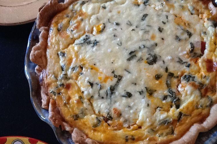 Roasted Tomato and Basil Custard Pie