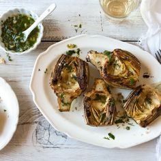 Fresh Artichokes with Lemon and Herbs