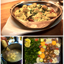 Toasty Kale and Collards with Gnocchi Parisian