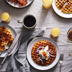 Our Favorite Savory, Cheesy Waffles