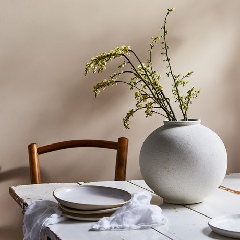 Oversized Round Ceramic Vase