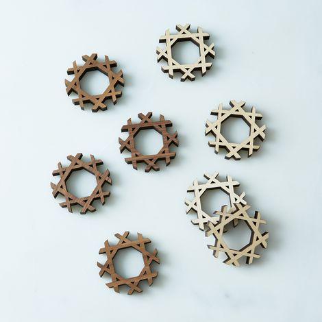 Precision-Cut Napkin Rings (Set of 4)