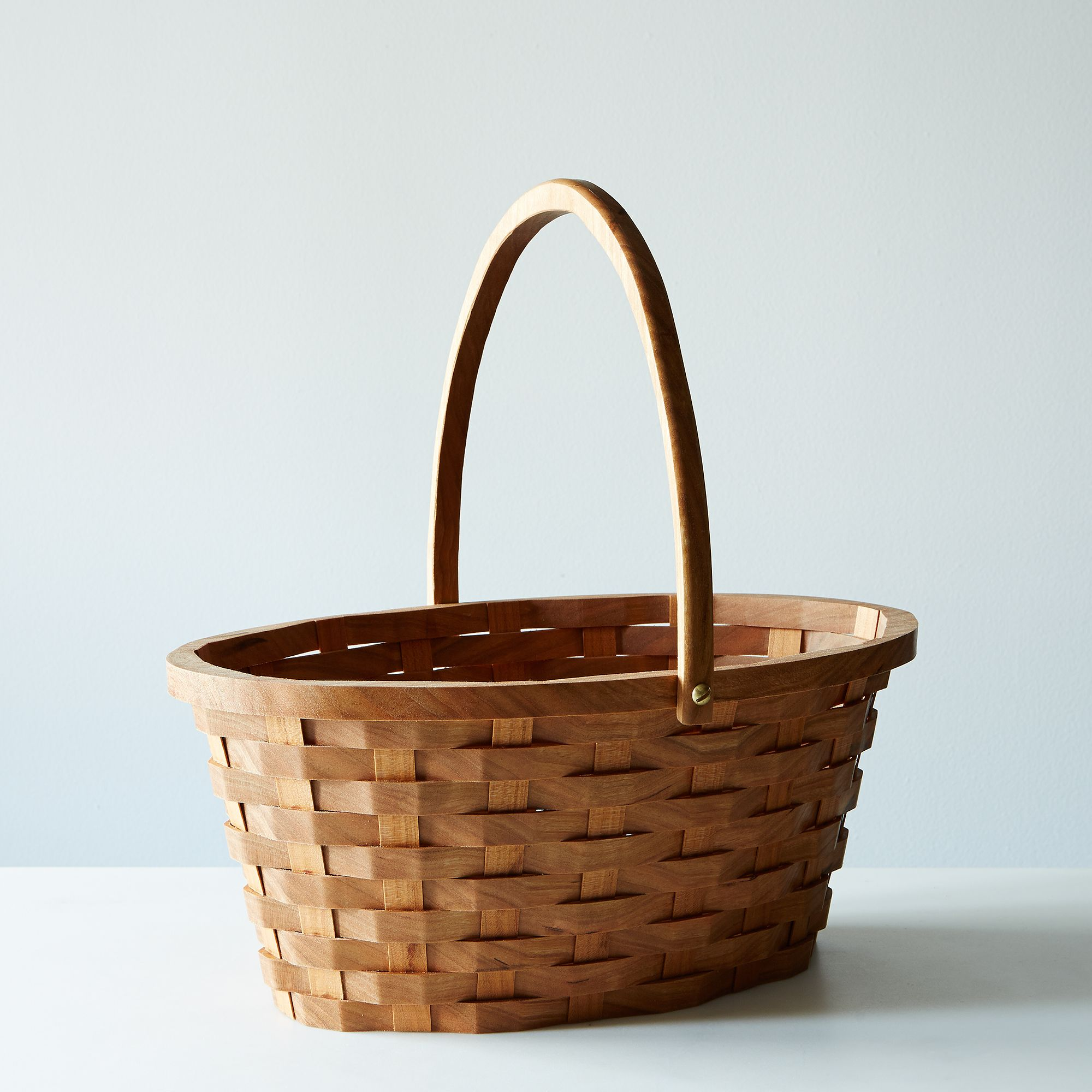 Wood Easter Basket - Cherry