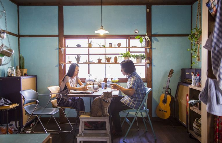 At the Osaka Home of Musicians Shinji Masuko and Maki Toba (of Boredoms)
