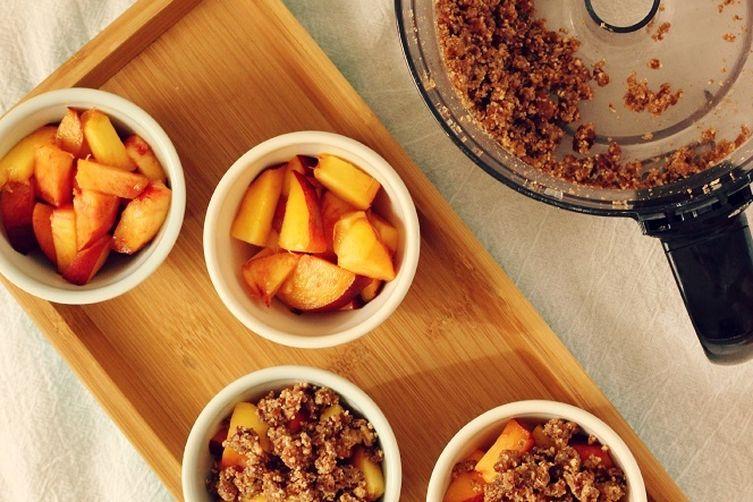 Raw Peach Crumbles