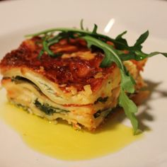 Arugula, Fennel and Bacon Lasagne