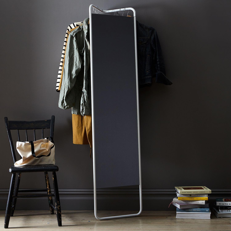 hanging storage floor mirror on food52. Black Bedroom Furniture Sets. Home Design Ideas