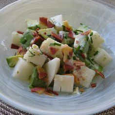 Avocado and Asian Pear Salad with Buttermilk Blue Cheese Dressing