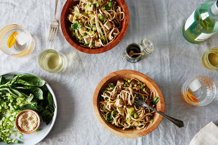 Cold Vegetable and Noodle Salad