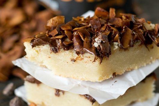Chocolate Coconut Shortbread Bars