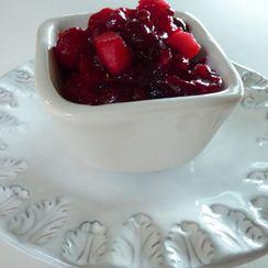 Spiked Cranberry, Apple and Jalapeño Sauce