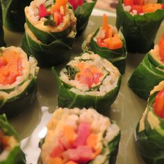 Collard Sushi With Roasted Winter Vegetables