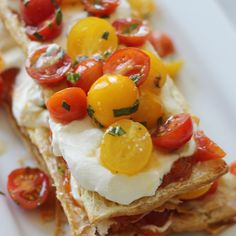 sunblush tomato napoleon with basil goat cheese mousse