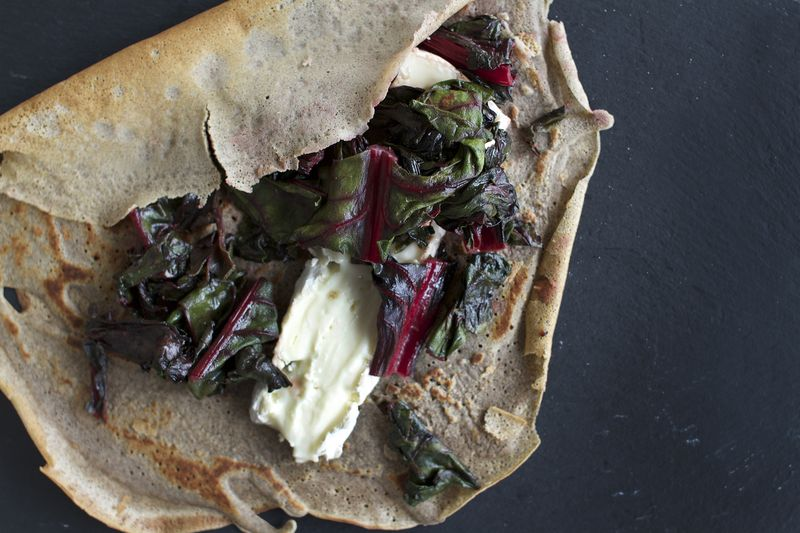 Buckwheat Crepes with Brie + Honey Sauteed Swiss Chard by ...
