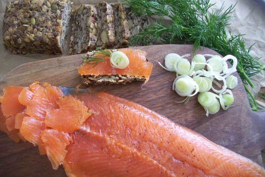 Cured trout  -  Trout gravlax